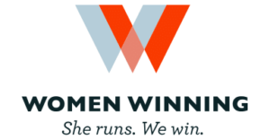 Women Winning—She runs. We win.